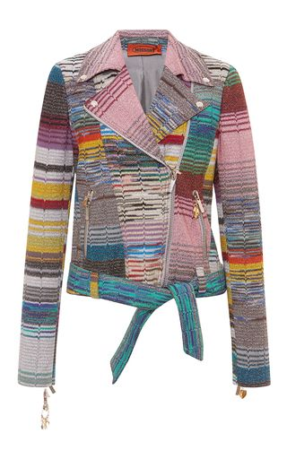 Lamé Biker Jacket by MISSONI for Preorder on Moda Operandi