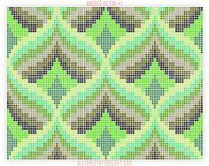 Bargello Pattern #1 - Free tapestry crochet pattern from AllTapestryCrochet.com