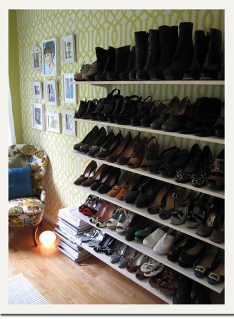 stylish shoe shelf