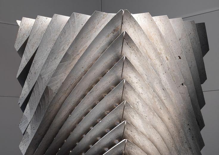 Lisca by Lithos Design for Raffaello Galiotto's solo exhibition Marble_2.0 Digital design evolution