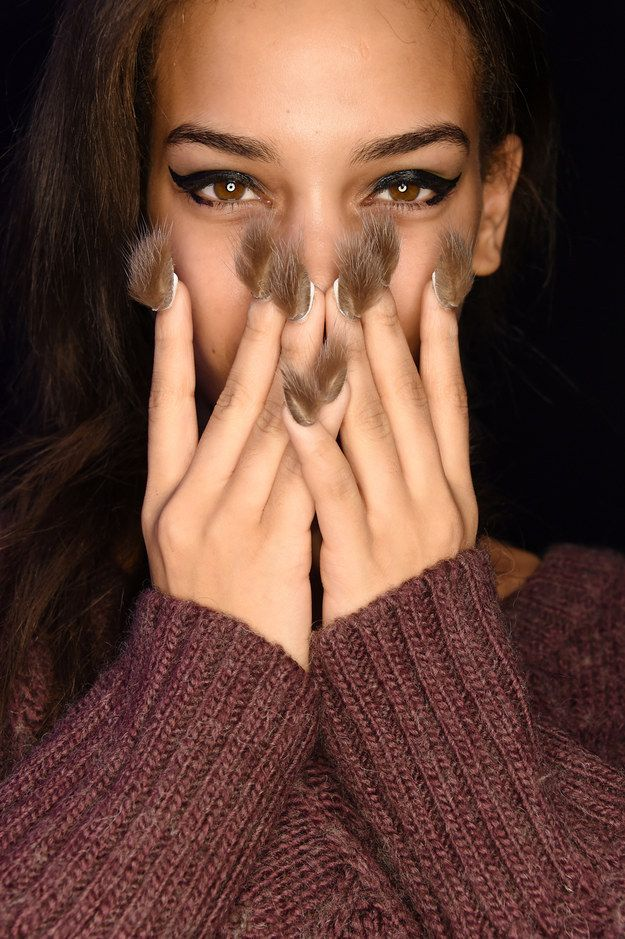 Meet the fur nail. It's chic AF, right? | Women Tried Faux Fur Nail Art...And Looked Weird AF