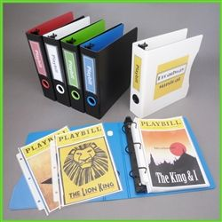 #Organize your #Playbill collection with these wonderful #Keepfiling binders!    One set includes 2 binders and a pack of sheet protectors (50 sheets) for all your favorite Playbills!  Durable and archival safe binder and sheet protectors to prevent damages to your valuable Playbills, and also keeps them organized! #playbillbinder