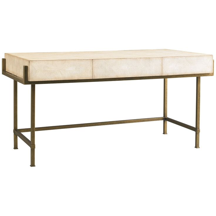 Great Lillian August Simone Shagreen And Metal Desk