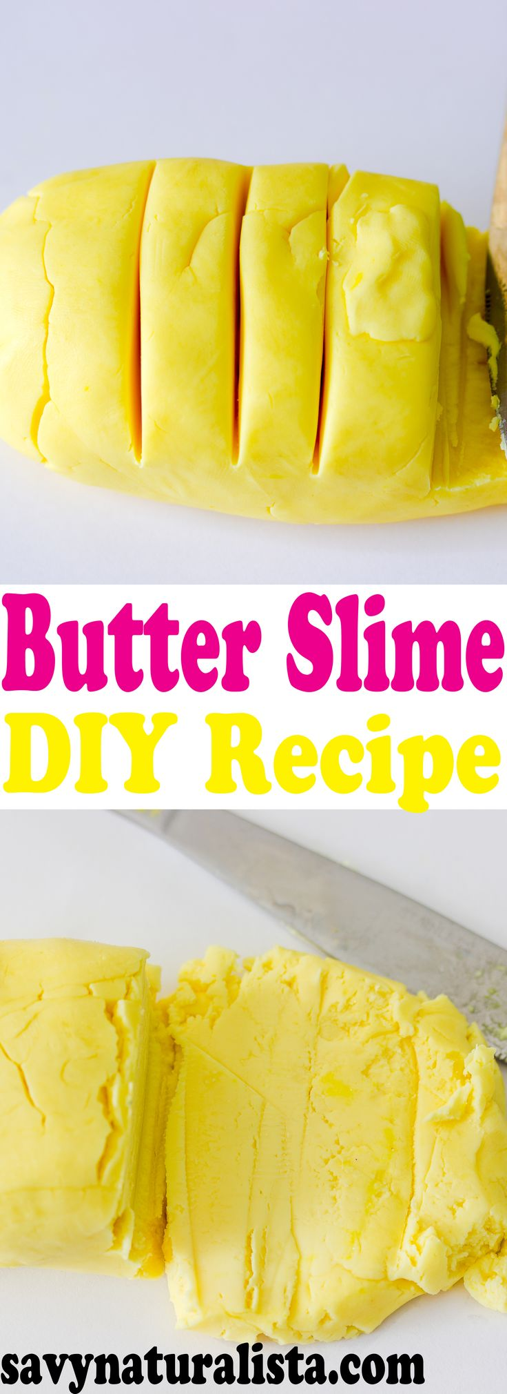 Butter Slime Is Not Only Fun To Play With,but There Is No Glue Required