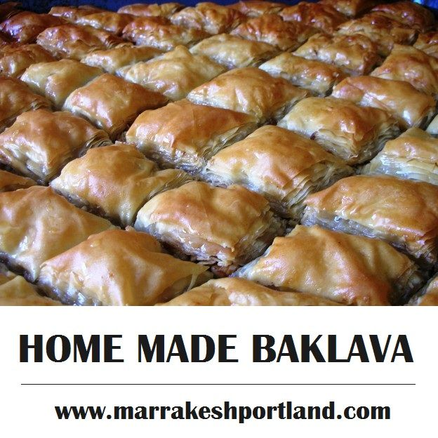 A small slice of baklava goes a long way, especially with a tiny cup of coffee. Isn't it Sounds delicious?  Try it now: http://marrakeshportland.com/ala-carte/  #HomemadeBaklava #Dessert #BestDessert #Delicious #Catering #MorrocanRestaurant #MoroccanFood #MoroccanRecipe #TreatYourTaste #AlaCarte #RestaurantPortland #Portland #MarrakeshRestaurant