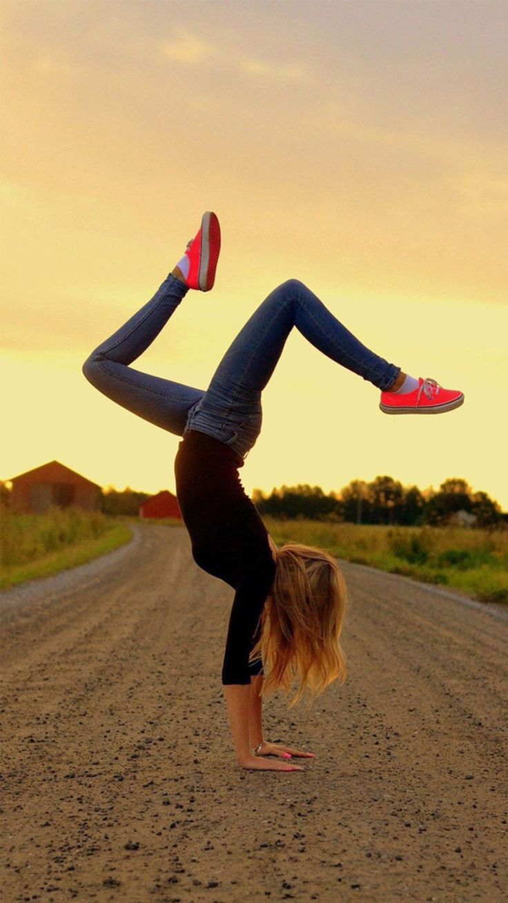 Turn A Somersault Road Young Sports Girl iPhone 6