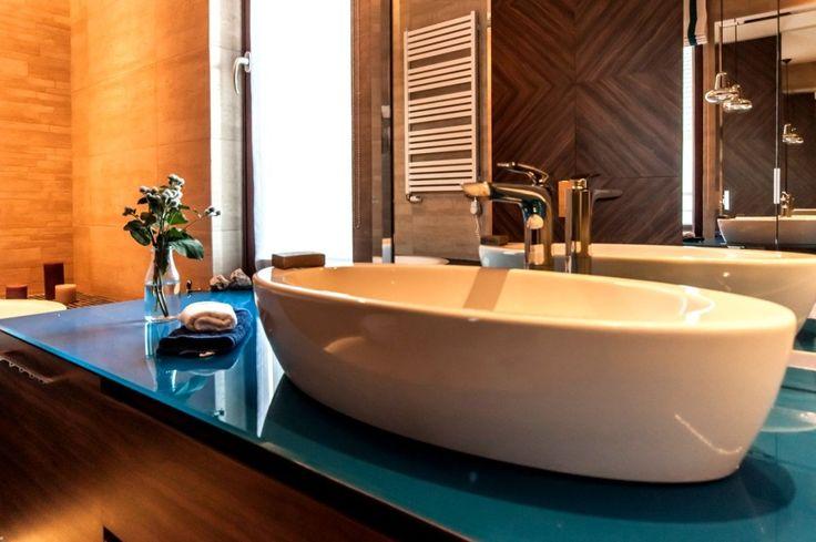 Błękitna łazienka - Segment w Kwirynowie TISSU Architecture