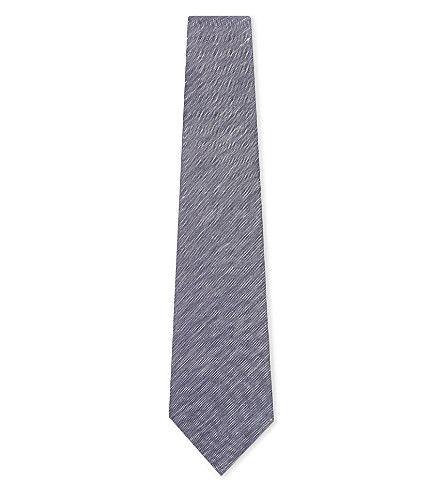 HARDY AMIES Solid Silk And Cotton Tie. #hardyamies #ties