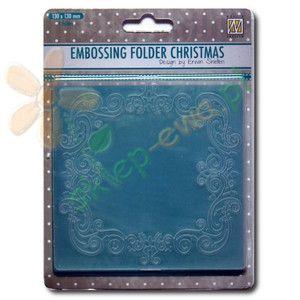 Folder do wytłaczania Nellie's Choice CHRISTMAS SQUARE 1