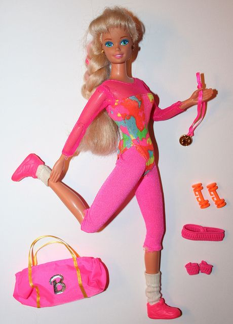 Wondering what year this Barbie is. Spandex is back!