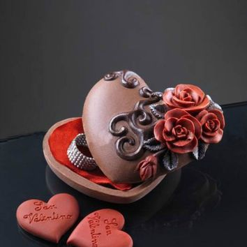 3-D Chocolate Heart Boxes- Gourmet Chocolate