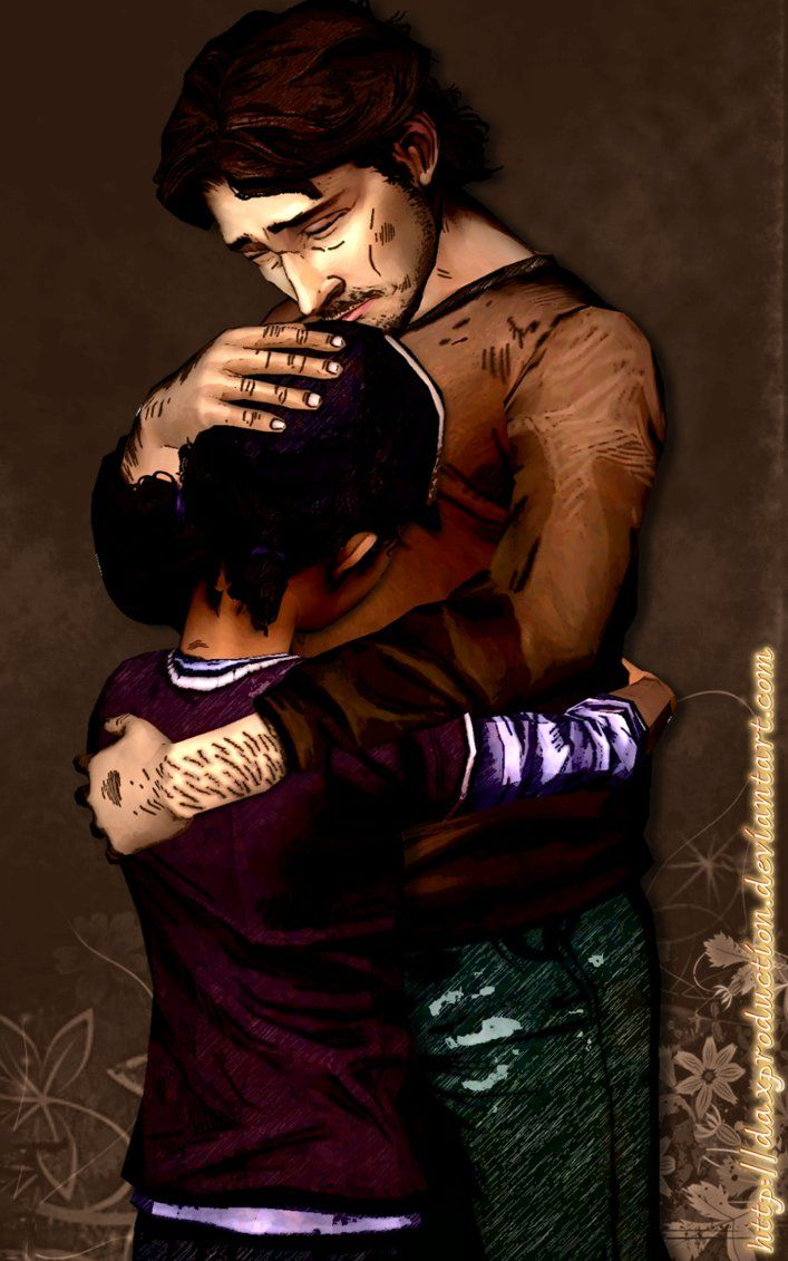 The walking dead season 2. Clementine and Luke.  Won't let you go by: DaxProduction