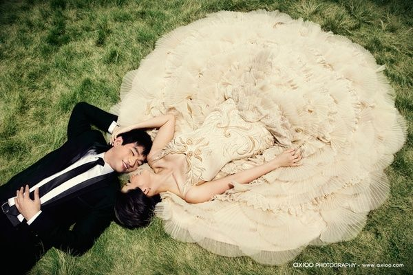Lay down!  What a great way to capture the detail on your dress.    One Perfect Day: Props & Poses - Ideas For Your Wedding Photos    http://marriagecelebrantmelbourne.blogspot.com.au