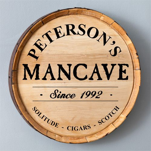 Make a statement in your home bar, basement or man cave with the personalized…