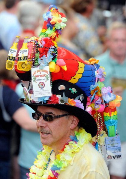 Parrothead at a Jimmy Buffett concert