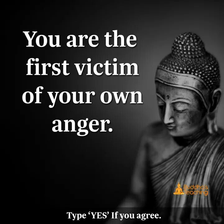 You are the first victim of your anger.