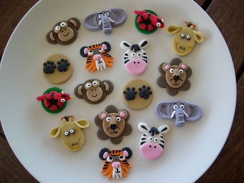 Mossy's masterpiece Jungle cupcake toppers by Mossy's Masterpiece cake/cupcake designs, via Flickr