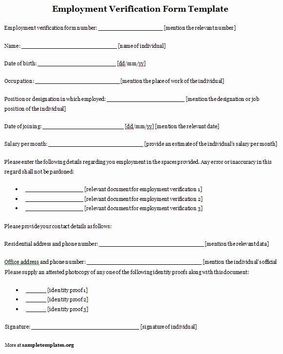 Previous Employment Verification Form Template Beautiful Verification Employment Form Template Employment Form Bio Data Form Data Form