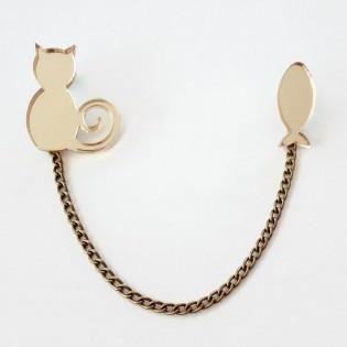 Kedi Balık Broş by Lucky Beads