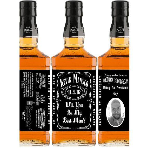 Digital Jack Daniels Groomsmen Gift Custom Whiskey Bottle Label Printable Groomsman Gift Fo Custom Whiskey Bottle Labels Whiskey Bottle Labels Whiskey Bottle