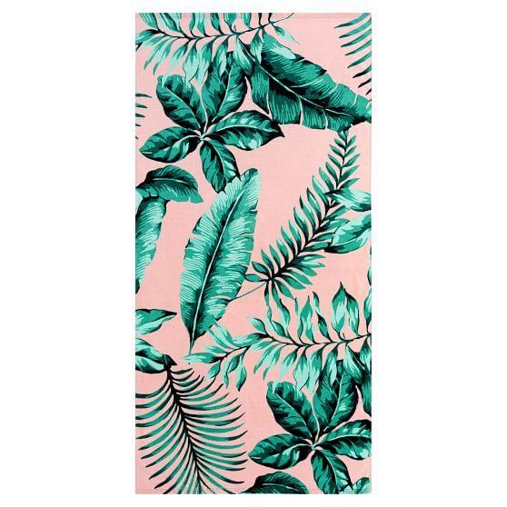 The Emily & Meritt Palm Leaf Beach Towel | PBteen