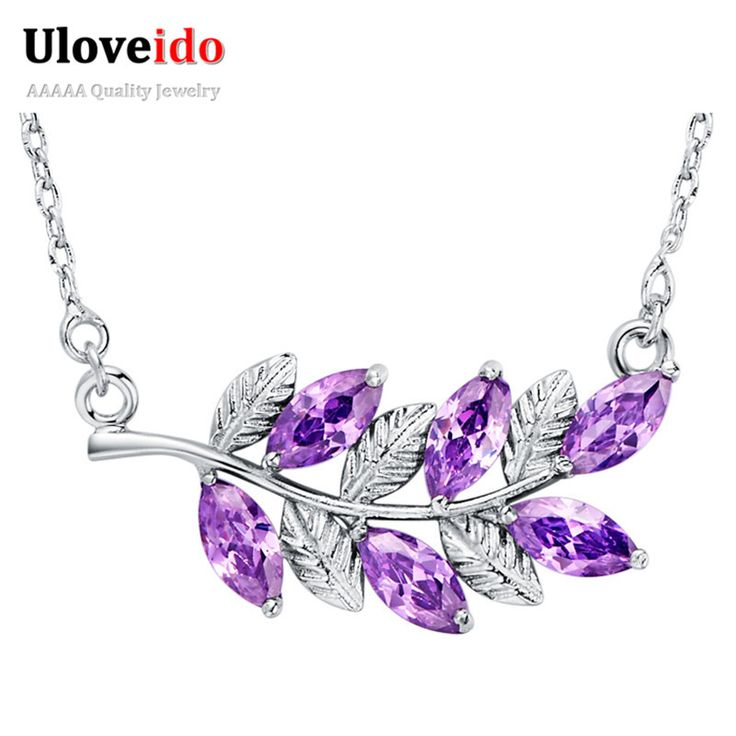 Olive Branch Necklace & Pendants for Women Vintage Peaceful Jewelry Valentine's Day Gift  Purple Crystal Necklaces N1011-in Chain Necklaces from Jewelry & Accessories on Aliexpress.com | Alibaba Group