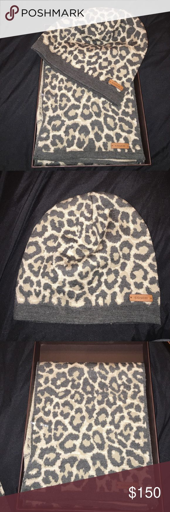Coach hat & scarf Brand new.. never worn Accessories Scarves & Wraps