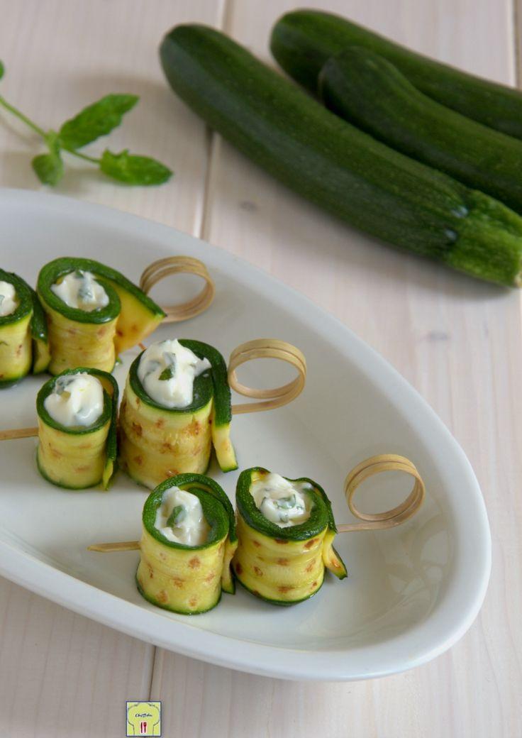rotolini di zucchine stracchino e menta gp