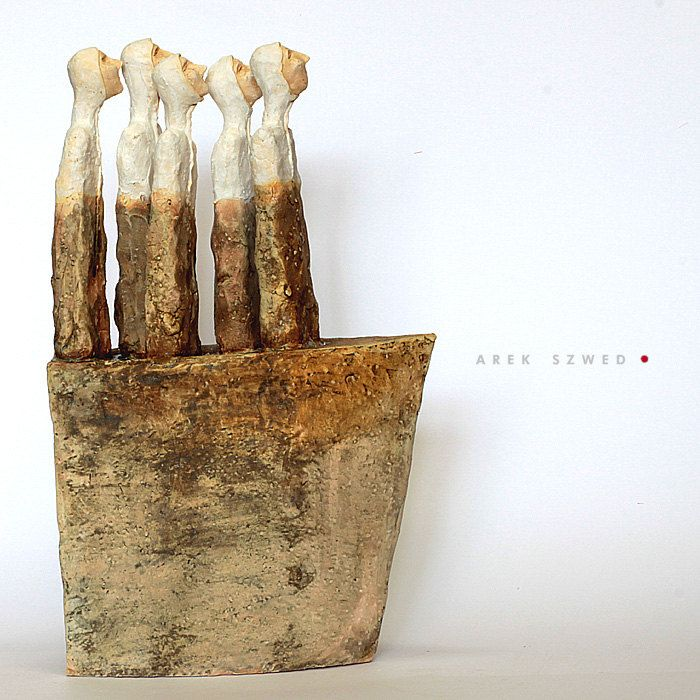 The ship and five/Ceramic Sculpture/ Unique Ceramic Figurine/ Brown figurine by arekszwed on Etsy