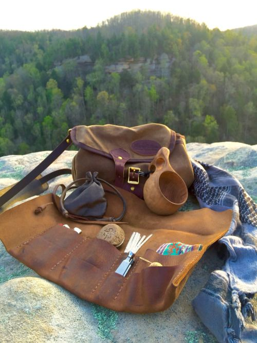 accessories online shopping Leather Bushcraft tool roll