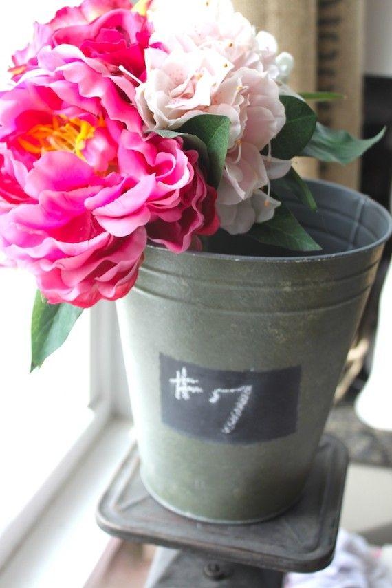 <3 flowers in buckets!