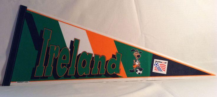 DEALER LOT 15 IRELAND Pennants Full Size World Cup USA 94 Soccer FIFA IRISH IRA  | eBay