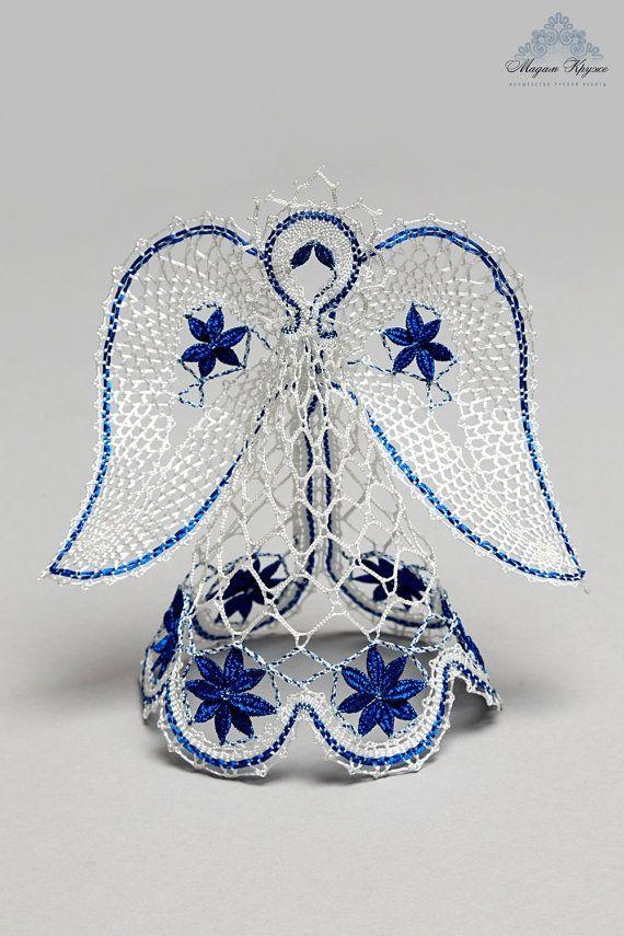 Lovely lace angel russian bobin lace Christmas angel di MadamKruje