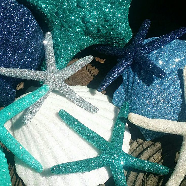 Sparkle & shine! An entire fabulous collection of glitter ornaments!