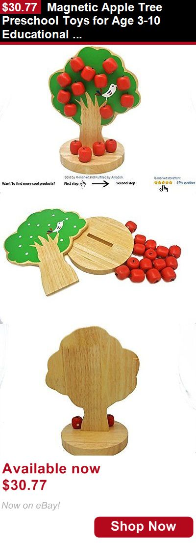 Blocks And Sorters: Magnetic Apple Tree Preschool Toys For Age 3-10 Educational Toy For Boys And For BUY IT NOW ONLY: $30.77