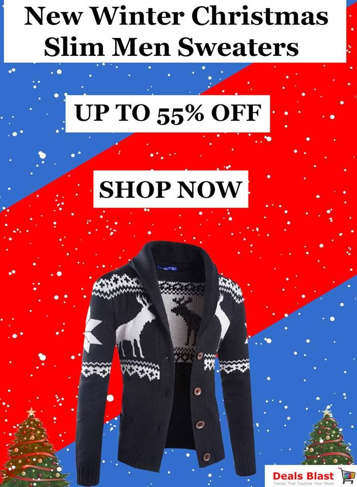 New Fashion Winter Christmas Sweaters for Men's