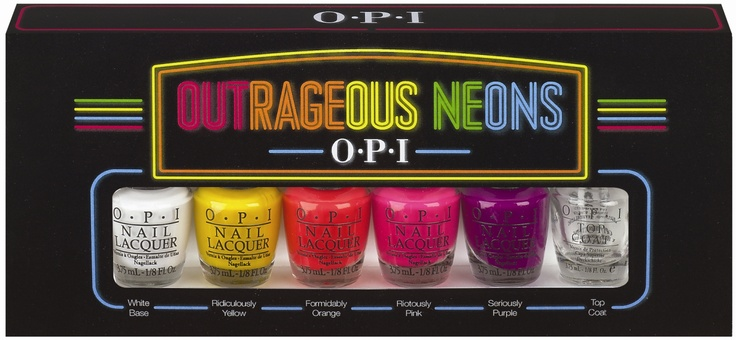 OPI Announces New Limited Edition Outrageous Neons, the Brand's First Neon Lacquer