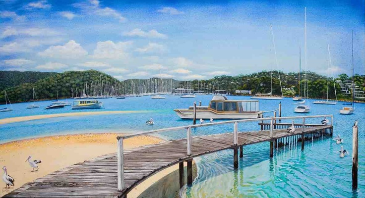 Winnererreny Bay Pittwater Sydney  Commissioned painting on canvas