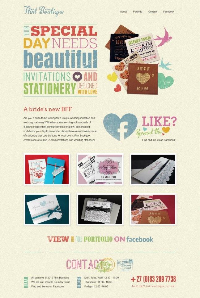 Website design for Flint Boutique - flintboutique.co.za