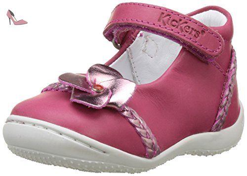 Kickers Gaellane, Ballerines Bébé Fille, Rose (Fuchsia Rose Metal), 19 EU - Chaussures kickers (*Partner-Link)
