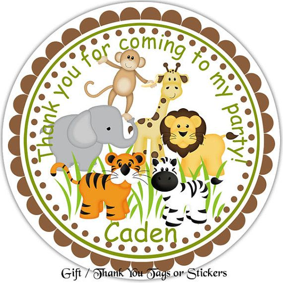 Jungle Sarfari Animals   Personalized Stickers by sharenmoments, $6.00