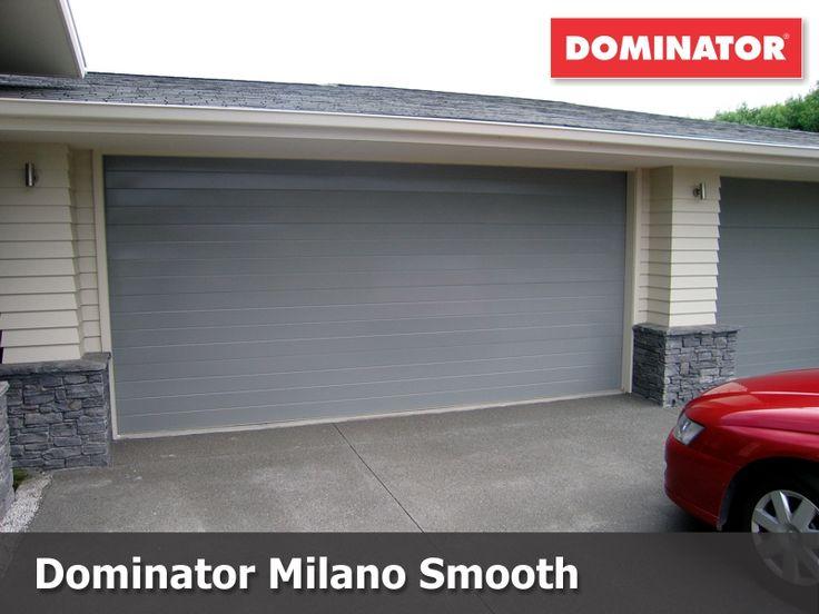 Dominator Milano Sectional Door in Sandstone Grey