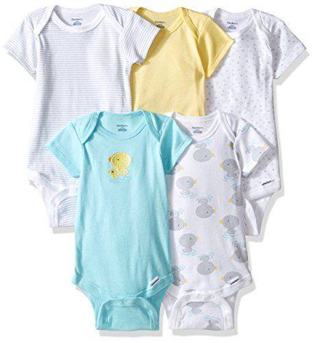 Gerber Baby 5 Pack Onesies, New Duck, 0-3 Months. For price & product info go to: https://all4babies.co.business/gerber-baby-5-pack-onesies-new-duck-0-3-months/