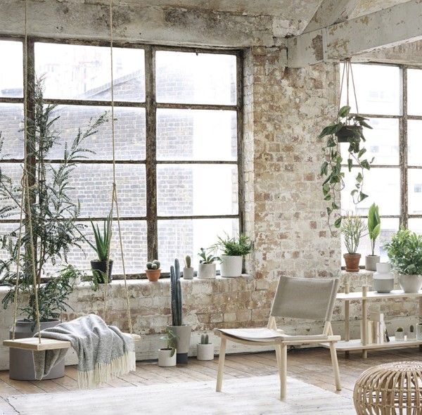 Trend Scout: Unfinished and undone Interiors via we-are-scout.com #plants #swing #loft