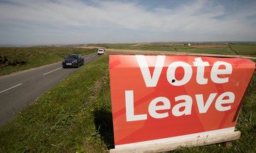 Poll: British Campaign To Leave EU Leads By 10 Points Ahead Of Referendum But the official Vote Leave campaign said their data suggests it's still 50-50.