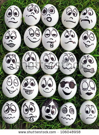Funny Faces To Draw On Eggs