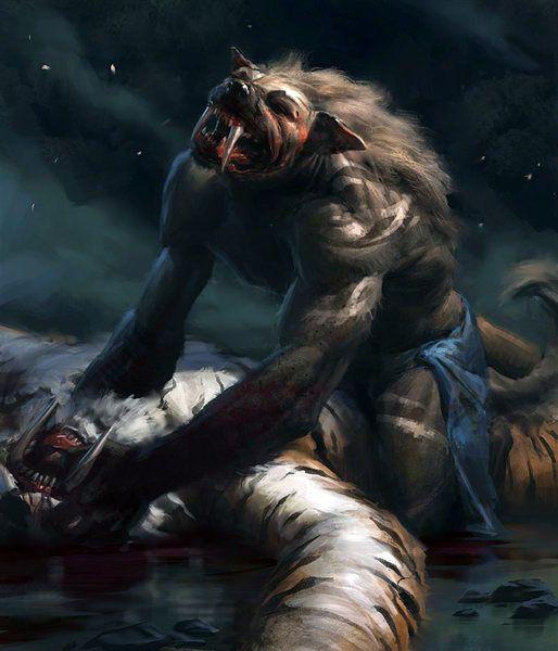 Werewolf Fight | Fantasy Art - Werewolves & Vampires ...