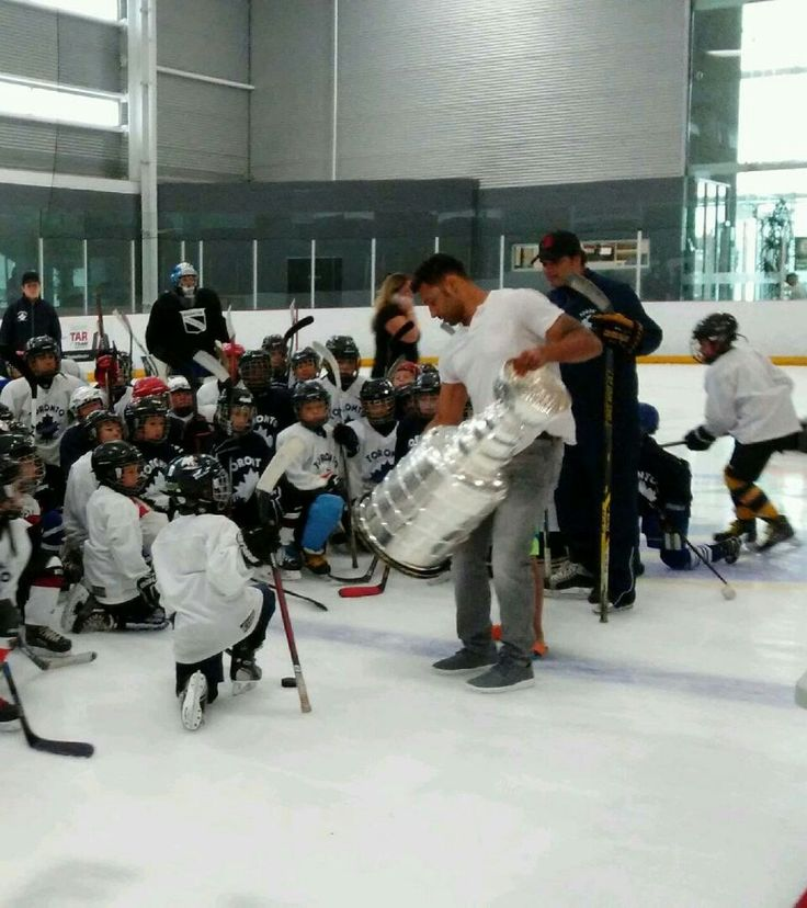 Philip PritchardVerified account @keeperofthecup  Jul 20  Trevor Daley shows off Lord Stanley's holy grail to some possible future #stanleycup champs. @HockeyHallFame @NHL @penguins