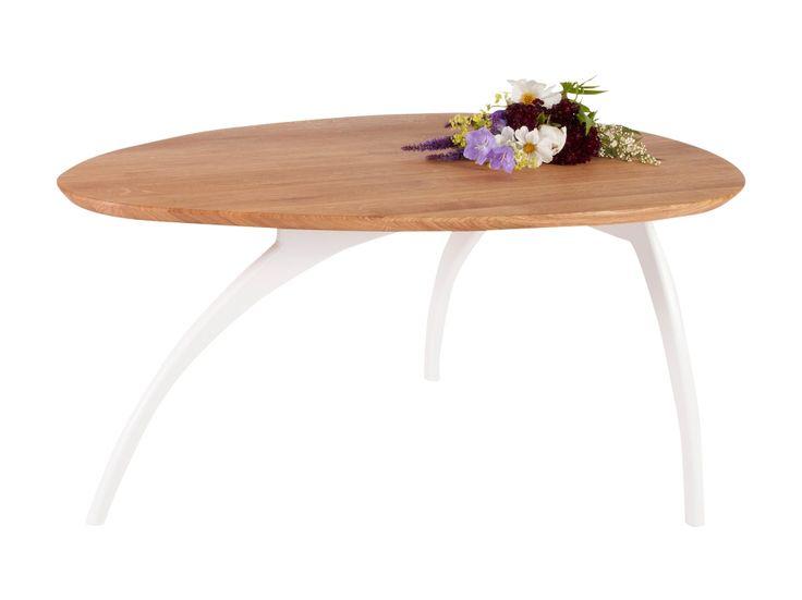 LOKA Soffbord 100 Vit/Ek i gruppen Inomhus / Bord / Soffbord hos Furniturebox (100-18-108723)