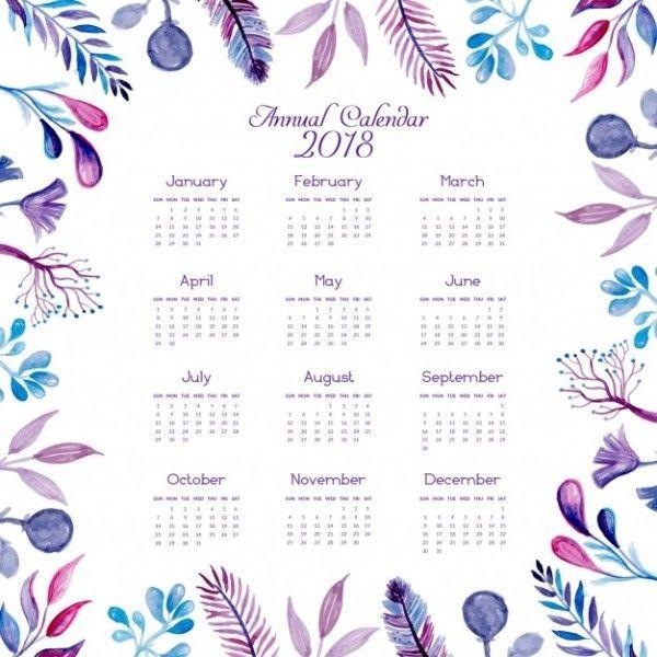 87+ Fascinating 2018 Printable Calendar Templates